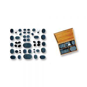 30 Hand Polished Basalt Stones Deluxe Set