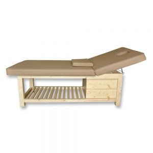 Elite Wooden Massage and Facial Bed w/ Storage